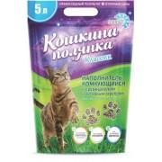 """Наполнитель для кошачьего туалета """"Кошкина Полянка"""" с силикагелем и активным серебром"""
