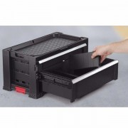 Модуль к комоду 2 Drawers Plas.Slide -Black EuroPro