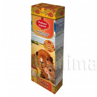 Зерновая палочка Родные корма для грызунов с медом и яйцом, 2х45г