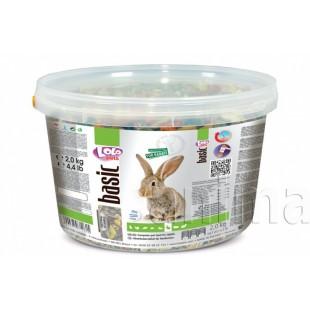 Полнорационный корм Lolo Pets для кролика в ведерке 3 л