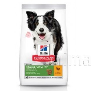 Hills Science Plan Canine Mature Adult Senior Vitality Medium Chicken