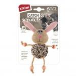 """Игрушка """"GiGwi"""" для кошек """"Заяц с плетеным мячиком"""", 8см"""