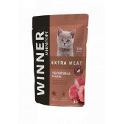 "Влажный корм Winner Extra Meat для котят ""Телятина в желе"""
