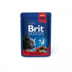 Brit Premium Cat Pouches with Beef Stew & Peas