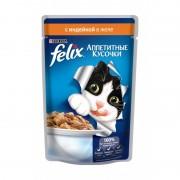 Felix аппетитные кусочки, индейка в желе