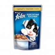 Felix аппетитные кусочки, курица и томаты в желе
