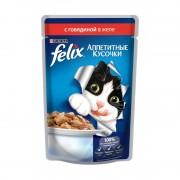 Felix аппетитные кусочки, говядина в желе