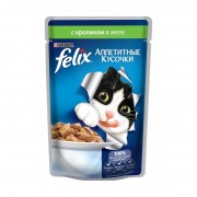 Felix аппетитные кусочки, кролик в желе