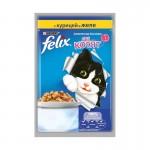 Felix аппетитные кусочки для котят, курица в желе