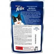 Felix аппетитные кусочки Двойная вкуснятина, говядина и птица в желе