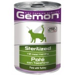 Gemon Cat Adult Sterilised Pate Turkey (паштет из индейки)