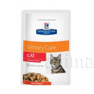 Hills Prescription Diet c/d Multicare Urinary Stress влажный корм для кошек (курица)