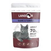 Влажный корм Landor для кошек, куропатка с индейкой
