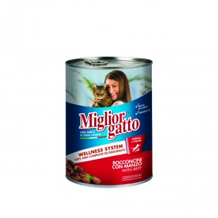 Miglior Gatto Classic Line Beef (кусочки с говядиной в соусе)
