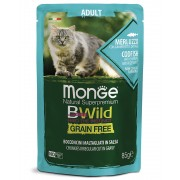 Monge Cat Grill Pouch BWild Sterilised Tuna/Vegetables