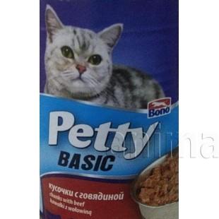Petty консервы для кошек с кусочками говядины