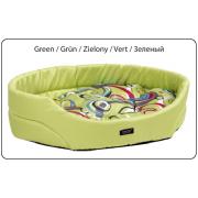 Лежак овальный с подушкой AMI Play Crazy зеленый