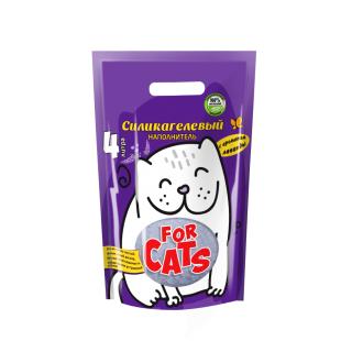 Наполнитель Four Cats силикагелевый с ароматом лаванды