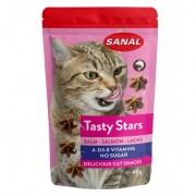 Санал для кошек вкусные звездочки, лосось, 40г