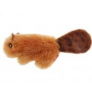 """Игрушка """"GiGwi"""" для кошек """"Бобренок"""" с кошачьей мятой, плюш, 16 см"""