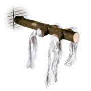 """Жердочка """"TRIXIE"""" для птиц с хлопковыми верёвками, дерево  20см"""
