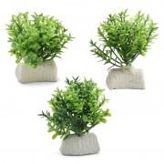 """Растение Laguna 1140LD """"Микрантемум"""", 1 ветка, (набор 3шт), 50мм, (пакет)"""