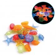 Ракушки морские Laguna 3001LD светящиеся разноцветные, 100шт, (пакет)