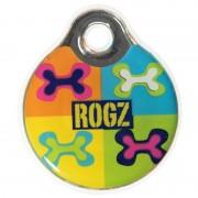 Кулон адресник пластиковый RogZ ID-tags Pop Art Navy