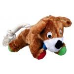 """Игрушка из плюша """"TRIXIE"""" для собаки """"Dog"""", с верёвкой, со звуком, 17см"""