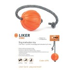 Тренировочный снаряд LIKER CORD в виде мячика на веревке, диаметр 9 см