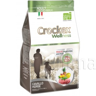 Crockex Wellness Medium-Maxi Dog Adult Horse & Rice