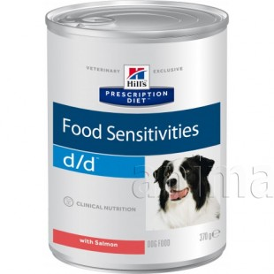 Hills Prescription Diet d/d Food Sensitivities для собак (лосось)
