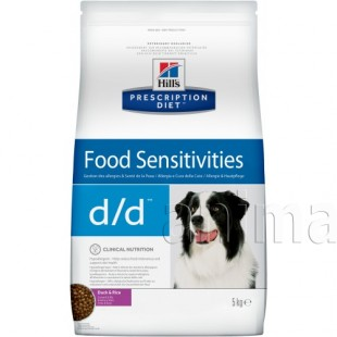 Hills Prescription Diet Canine d/d Food Sensitivities (утка, рис)
