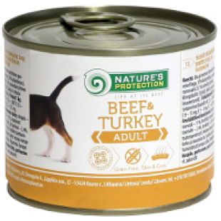 Natures Protection Dog Adult Beef & Turkey