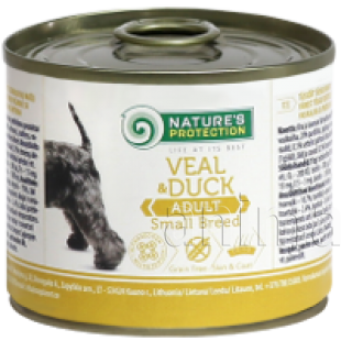 Natures Protection Dog Adult Small Breed Veal & Duck