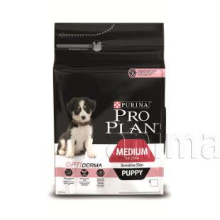 Pro Plan Medium Puppy Sensitive Skin (лосось, рис)