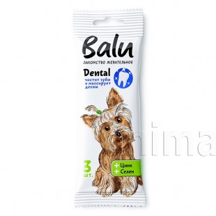 Balu Dental Лакомство для собак с цинком и селеном, 36г