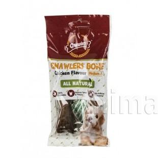 Лакомство Gnawlers для собак Bone Chicken для очистки зубов