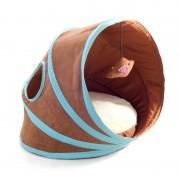 Лежанка-туннель Triol CT49 для кошек, коричневая