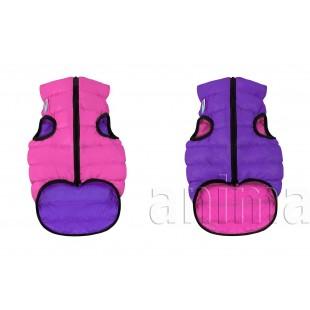 Курточка двухсторонняя AiryVest, розово-фиолетовая