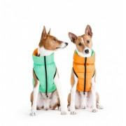 Курточка двухсторонняя AiryVest Lumi, оранжево-салатовая