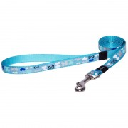 Удлиненный поводок Rogz Trendy, голубой
