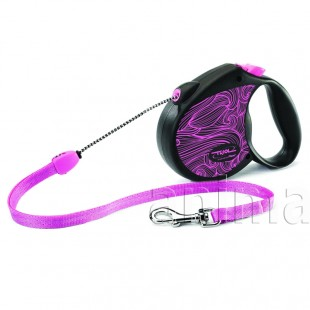 Поводок-рулетка Triol Flexi Colour Pink S 5м до 12кг, трос