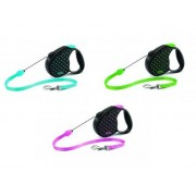 Поводок-рулетка Flexi Color Dots S, до 12кг/5м трос