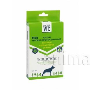Капли инсекторепеллентные Doctor VIC для собак крупных пород, 3 мл