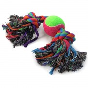 """Игрушка для собак Triol 0073XJ """"Верёвка, 2 узла и мяч"""", d65/350мм"""