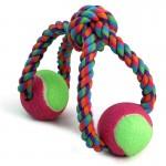 """Игрушка для собак Triol 0111XJ """"Верёвка-восьмёрка, узел и 2 мяча"""", d65/320мм"""