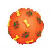 """Игрушка для собак из винила Triol 76007 """"Мяч с лапками и косточками"""", d80мм"""